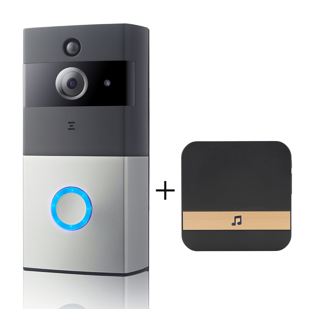 Smart Video Doorbell Camera 720P Visual Call Intercom Door Bell Infrared Night Vision Remote Record Home Security Monitoring
