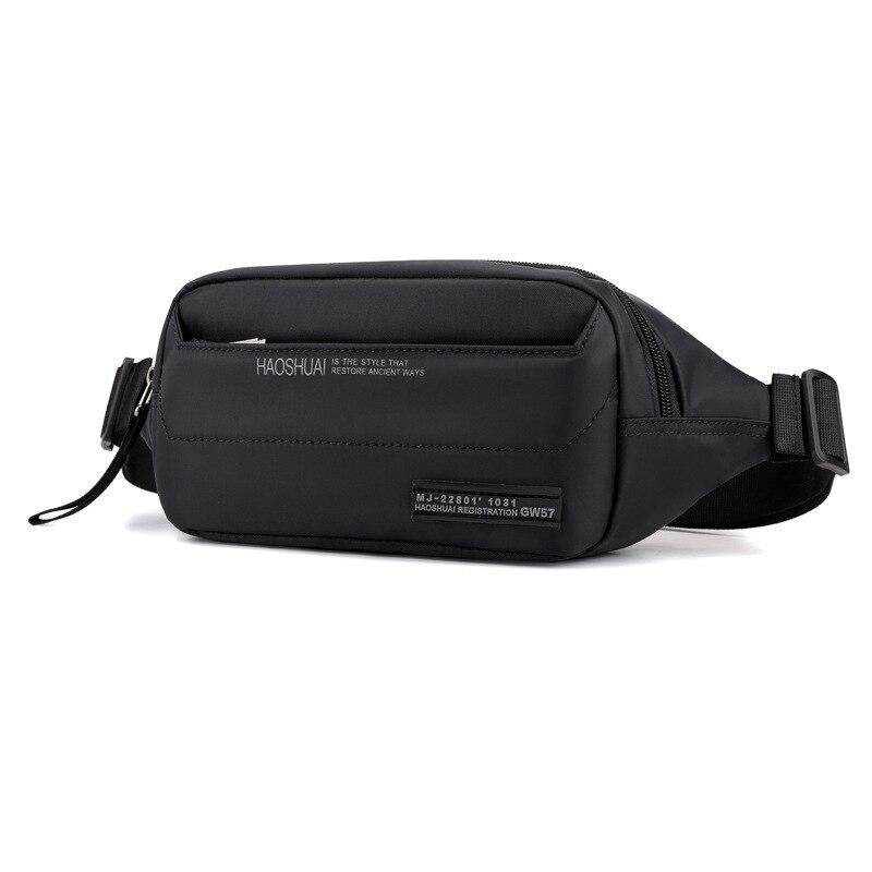 High Quality Men Nylon Hip Bum Fanny Pack Money Pouch Multi-Pocket New Fashion Sling Crossbody Chest Pack Male Waist Belt Bags