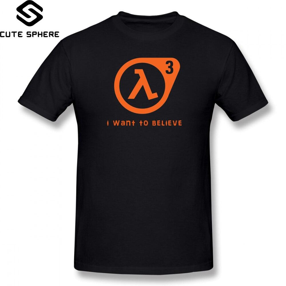 Half Life T Shirt Half Life 3 I Want To Believe T-Shirt 100 Percent Cotton Cute Tee Shirt Basic XXX Short Sleeve Man Tshirt