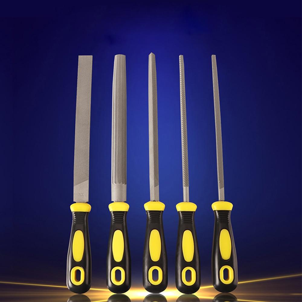Shina 1PC 10 Inch Semicircle File Carbon Steel T12 Rasps Sharpening Single Handle File