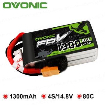 OVONIC 1300 mAh 80C Max 160C Lipo 4 S 14.8 V Batterij met XT60 Plug voor 240 FPV Frame RC drone Heli Quad Boot Auto