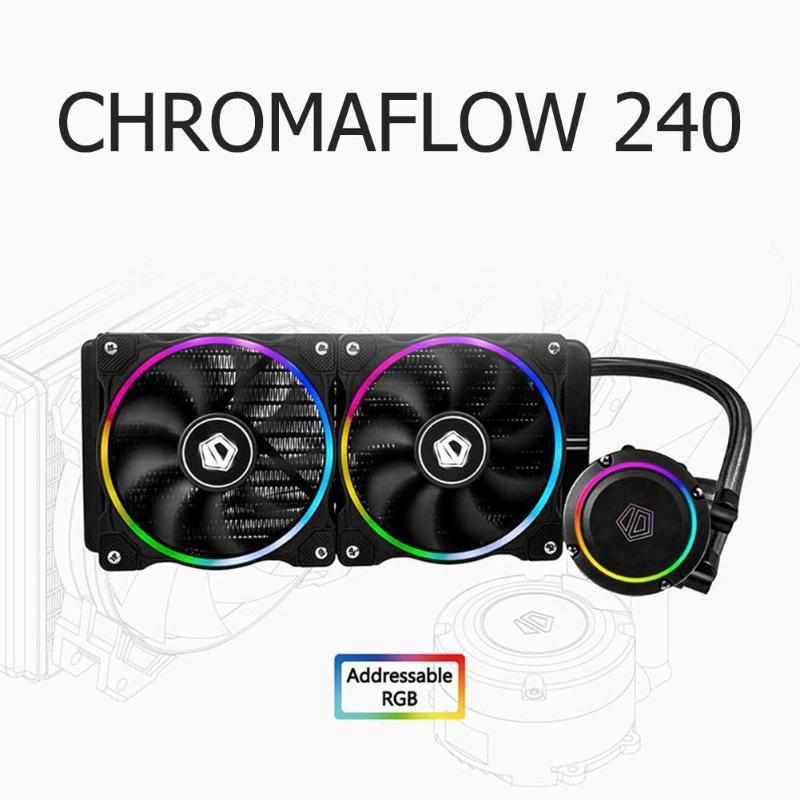 ChromaFlow 240 CPU Water Cooler 12V RGB Liquid Cooling Radiator 120x120x25mm 900-2000RPM DC 12V Cooling Fan ChromaFlow 240 CPU Water Cooler 12V RGB Liquid Cooling Radiator 120x120x25mm 900-2000RPM DC 12V Cooling Fan