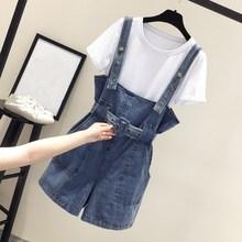 Summer Korean Strap Denim Overalls Jumpsuit Loose Women Casual Jeans Playsuits Female Rompers Streetwear