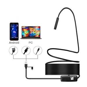 Image 1 - 1080P Android kamera endoskopowa 8mm obiektyw endoskop 2m 5m 10m przewód elastyczny zapis wideo boroskop inspekcyjny Led oświetlenie