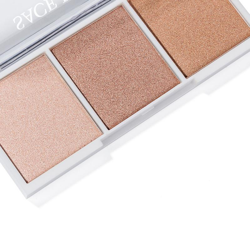 3 color High light Repair Disk High Light Shadow Disk Natural Makeup Make up Tray Brighten Cosmetic Beauty Products in Bronzers Highlighters from Beauty Health