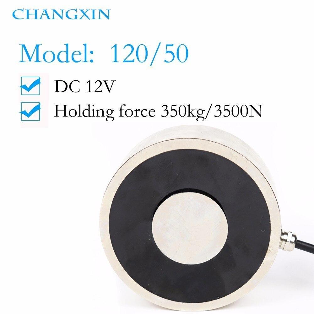 120*50mm grande aspiration 350 kg Dc 12 v/24 v grand électroaimant électroaimant de levage électrique électro fort aimant