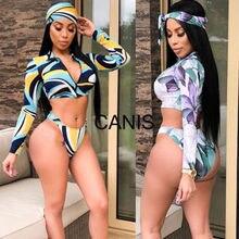 b121a6e5d98c7 2019 Bikini Swimwear Bandage Swimsuits Monokini Bathing Suits Padded Top+Triangle  Bottom Mesh Cover Pants