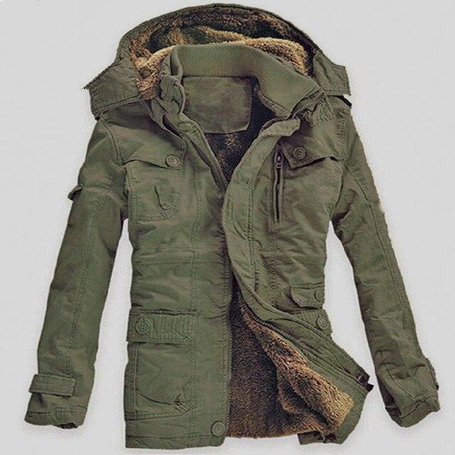 Inverno Spesso di Nuovo Modo di Marca Degli Uomini caldo Pile Cappotti  Giacca Con Cappuccio Lungo 9efc770258c