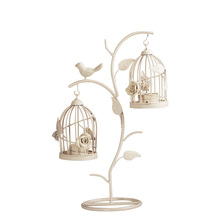 Birdcage Iron Candlestick Holder Glass Candle Stand Lantern Europe Moroccan Hollow Candle Stick Stand Home Wedding Decor Gifts