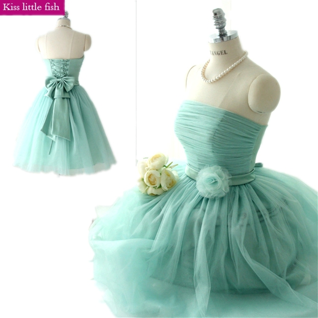 aed9ffb821df Free shipping cheap Mint green Short bridesmaid dresses Wedding Party dress