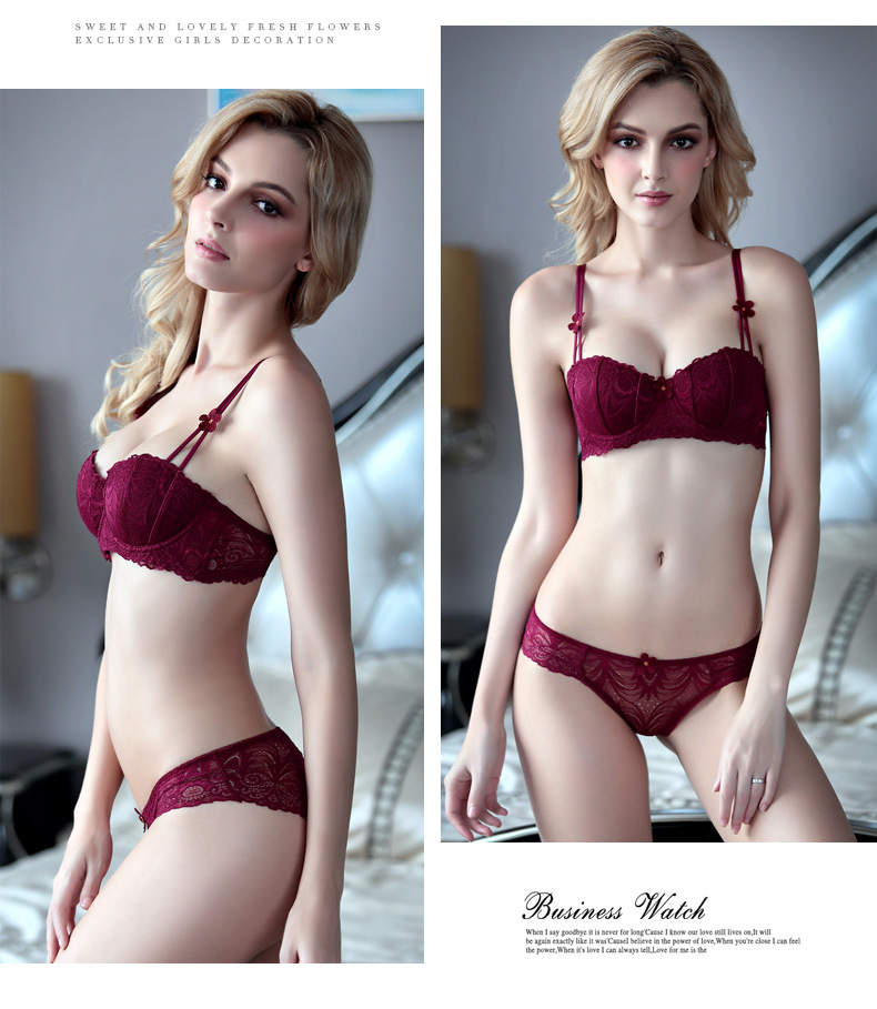 Realistic Sexy Women Bra Set Adjustable Seamless Lady Secret Brassiere Suit Push Up Bra Panties Set Underwear Lingerie Female Set Girl Bow Women's Intimates