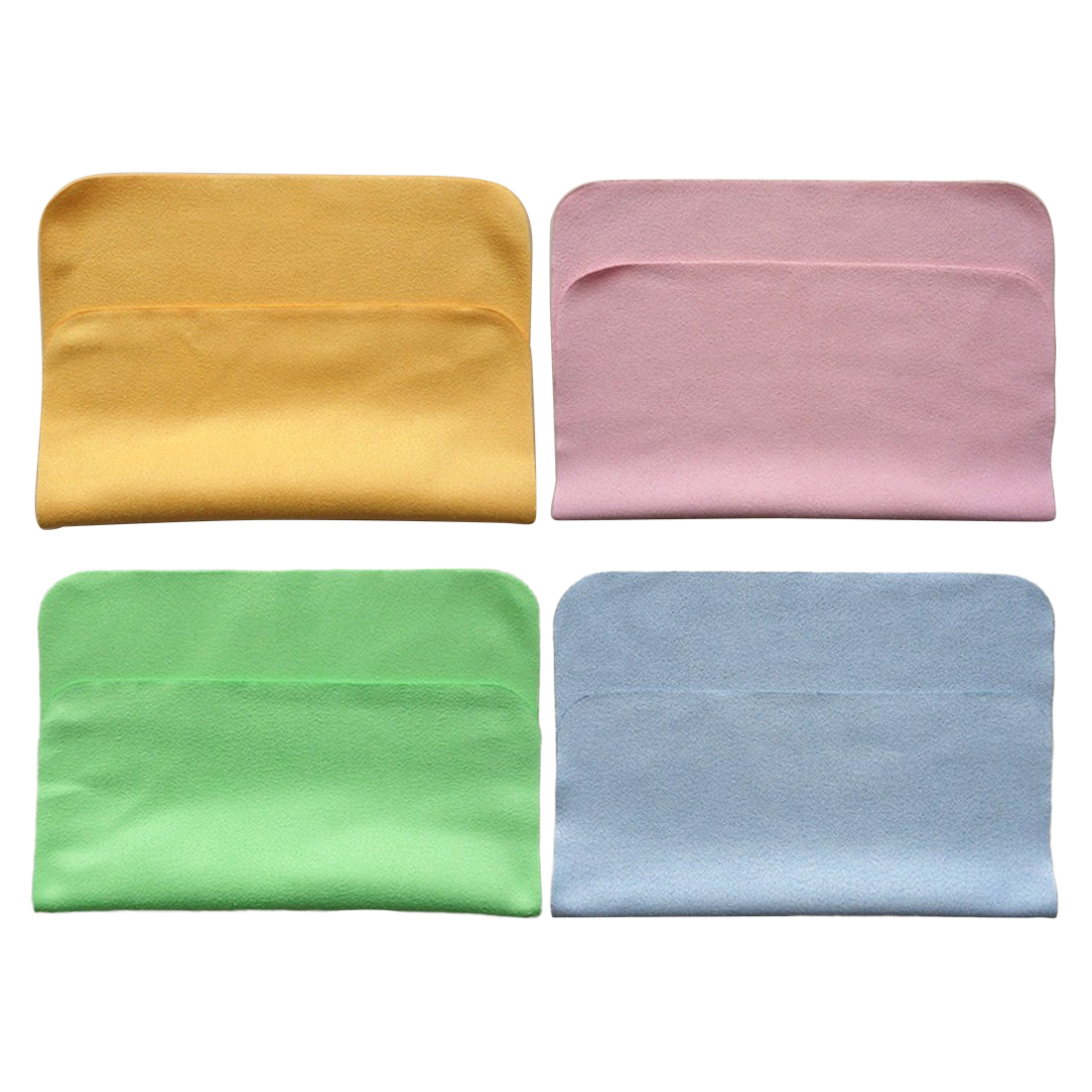 Microfiber Cloth Or Chamois: 1PC Chamois Cleaner 180*150mm Microfiber Glasses Cleaning