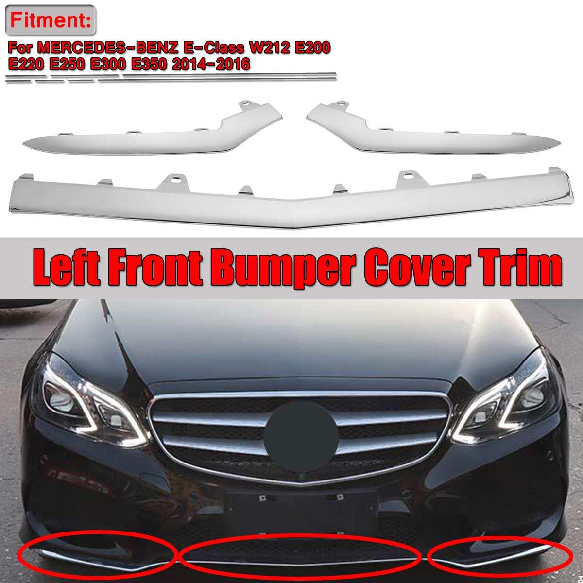 For Mercedes W212 E350 E63 AMG Rear Center Bumper Garnish Moulding Chrome Strip