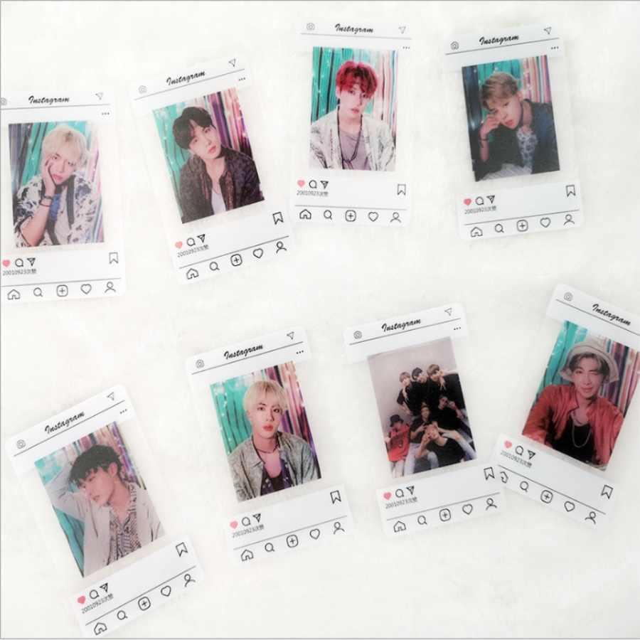 Kpop BTS PVC Clear Photo Card Bangtan Boys Jimin Suga HD Collective  Photocard 8pcs/set Army