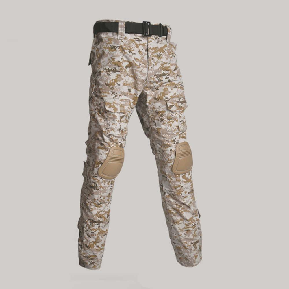 Multicam Camouflage Militar Tactische Broek Militaire Uniform Broek Acu Airsoft Paintball Combat Cargo Broek Met Kniebeschermers