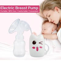 Newborn Automatic Electric Breast Pump BPA Free Baby Feeding Milk Pumps For Mothers Natural Shaped Teat Double Cup Breast Pumps