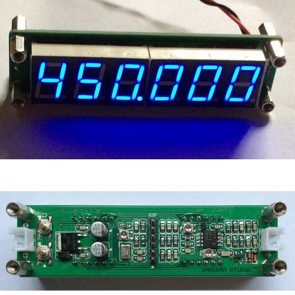 DYKB 6LED 1 МГц до 1000 мгц радиочастотный счетчик измеритель частоты измеритель измерения светодиодный цифровой дисплей для радиоусилителя Ham