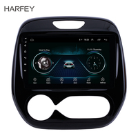 Harfey 9 Inch Android 9.1 for Renault Captur CLIO 2011 2016 Samsung QM3 Manual A/C GPS Navigation Car Audio System Touch Screen