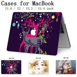 Image 1 - Для MacBook Air Pro retina 11 12 13,3 15,4 дюймов для ноутбука чехол для ноутбука MacBook с защитной клавиатурой
