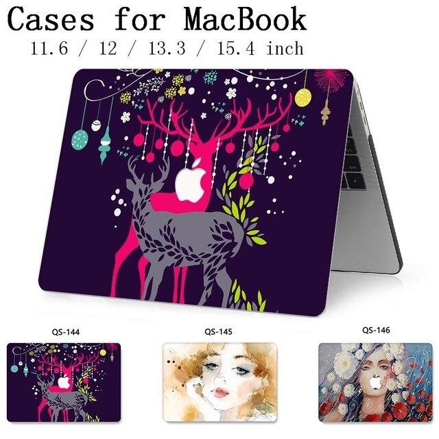 Для MacBook Air Pro retina 11 12 13,3 15,4 дюймов для ноутбука чехол для ноутбука MacBook с защитной клавиатурой