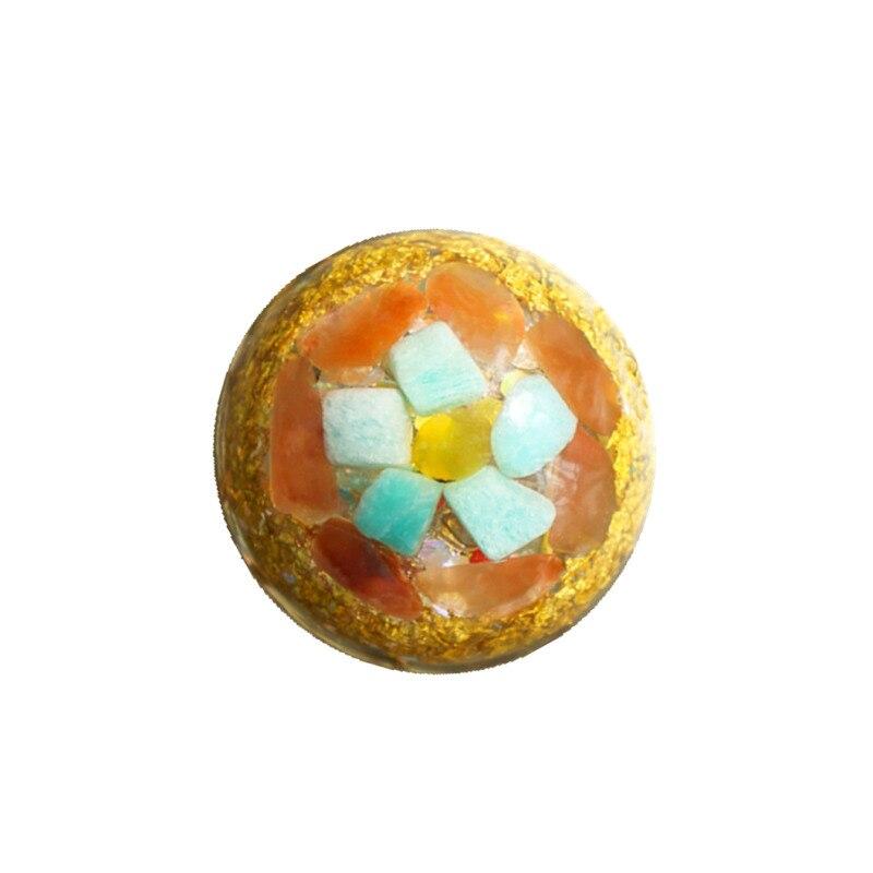 AURA Orgonite Pendant Spirit Repair Energy Pendant Buddhist Lotus Meditation Supplies Aogan Resin Jewelry Handcraft Pendant