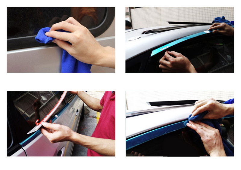 for Toyota Corolla 2014 Car Exterior Accessories Window Trim Stainless Steel Decoration Strips without column