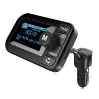 Portable Car Radio DAB with FM Transmitter + Bluetooth Handsfree + Bluetooth Audio Receiver + MP3 Player, Dual USB Car Charger