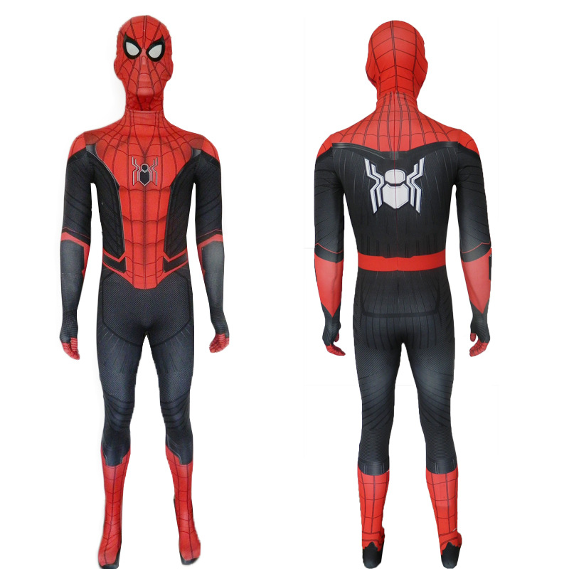 Adult Men Spider Man Far From Home Peter Parker Cosplay Costume Zentai Spiderman Superhero Bodysuit Suit Jumpsuit Halloween Male