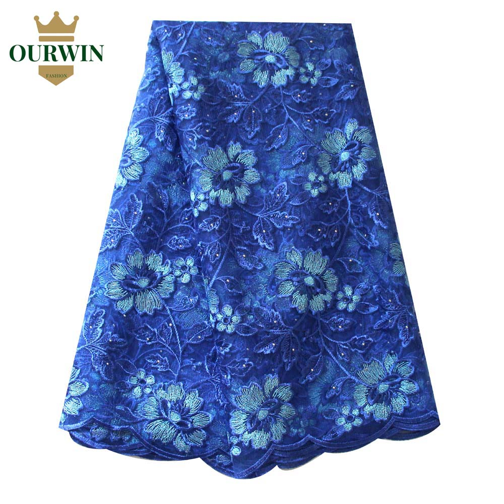 Royal Blue African Laces Fabrics Embroidered Nigerian Guipure French Lace Fabric High-quality African French Net Lace FabricRoyal Blue African Laces Fabrics Embroidered Nigerian Guipure French Lace Fabric High-quality African French Net Lace Fabric
