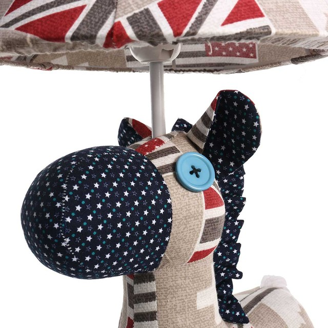 Hand Made Multicolored Kids Lamp Horse Sculpture  4