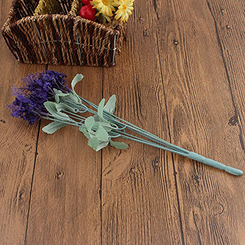 Lavender Artificial Flower 10 Branches Only 1 Flower Celebration Birthday Petit Gift Handmade Wetted Flower Home Wedding Decor in Artificial Dried Flowers from Home Garden