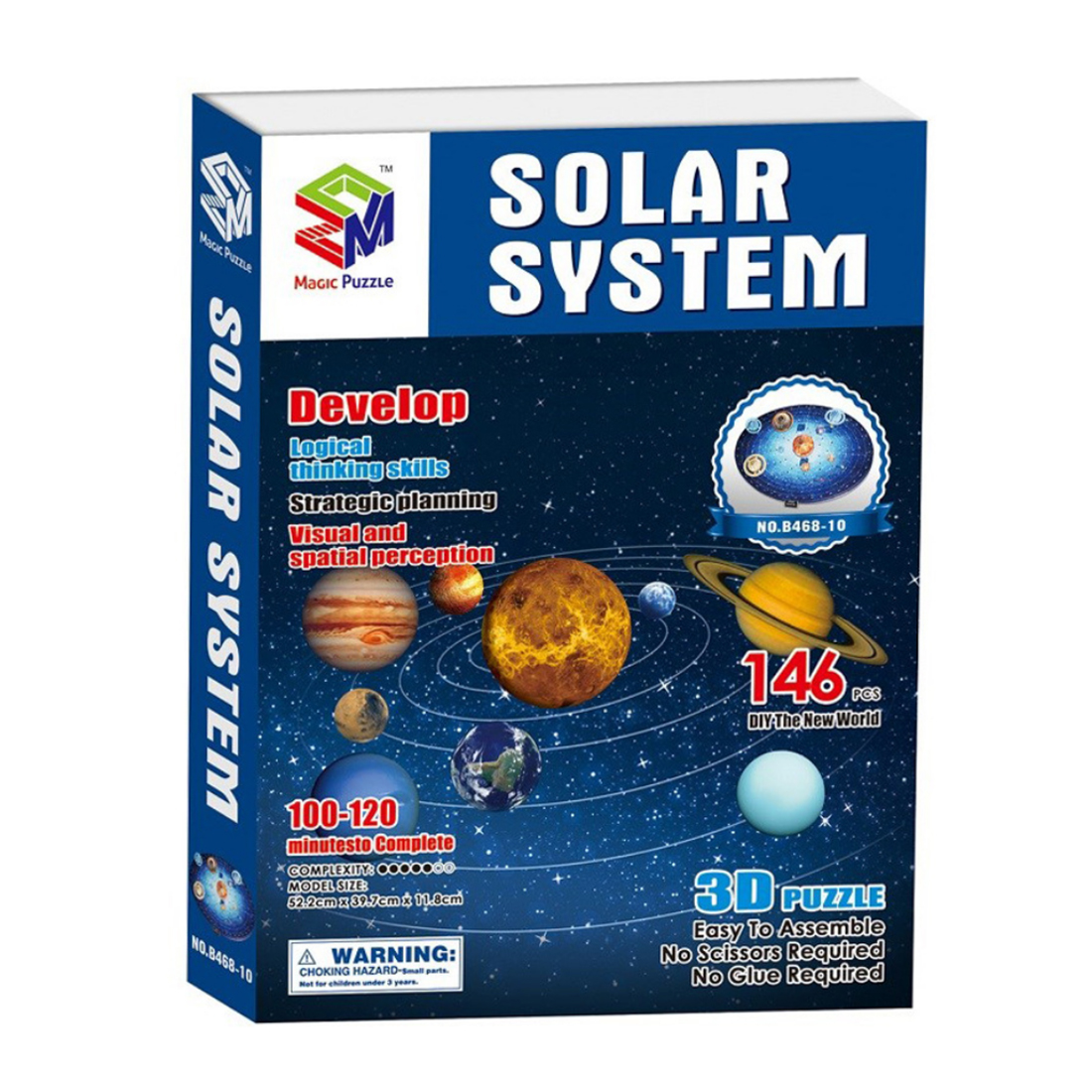3D Solar System Puzzle Set Planet Board Game 3D Paper DIY Jigsaw Learning 146Pcs