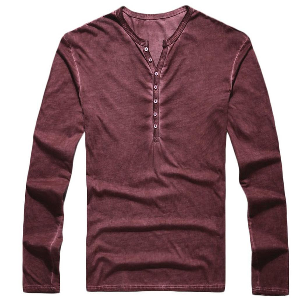 Men Fashion Casual Long Sleeve Turndown Printed Button Slim Shirt Top Collar Spring, Summer 11