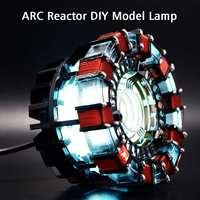 DIY Light Powered Arc Reactor Men Heart DIY Model Kit LED Chest USB Movie Props LED Light Action