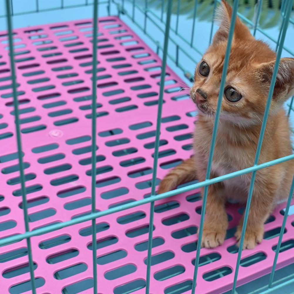 None Plastic Wear-resistant Cage Mat Cat Dog Accessories Grids Holes Small Animal Anti-slip Cushion Feet Pads Easy Cleaning