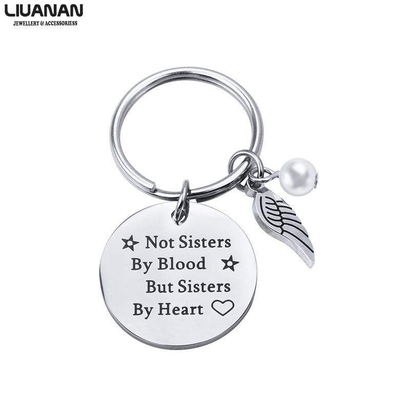 Лучший брелок лучшему другу, подарок ювелирной дружбы для женщин-подростков, девушек, не сестер по крови, а сестер по сердцу, 2 цитата