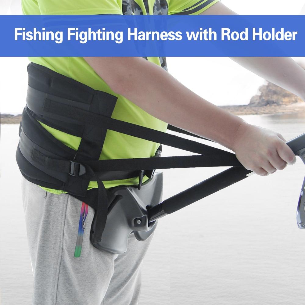 Fishing Belt Rod Holder Fishing Harness Rock Waist Gimbal Fighting Belt Fishing Rod Pole Stand Saltwater