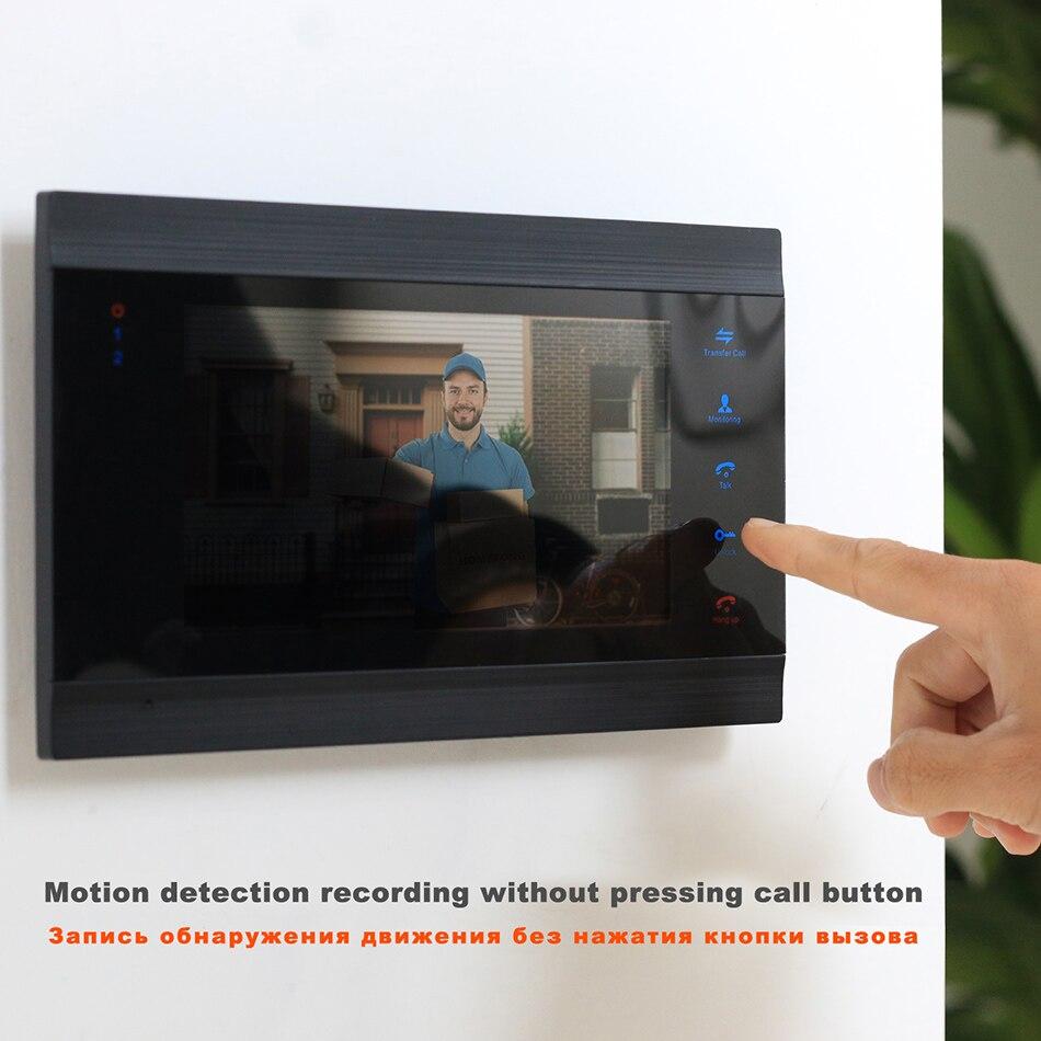 HomeFong Vídeo Campainha Casa Interfone Telefone Video Da Porta Monitor de 7 polegada 1200TVL 32G Cartão de Memória Vídeo Porteiro Campainha Câmera kit - 4