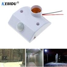 Kebidu Automatic Human Body Infrared IR Sensor LED Bulb Light E27 Base PIR Motion Detector Wall Lamp Holder Socket AC 110V 220V