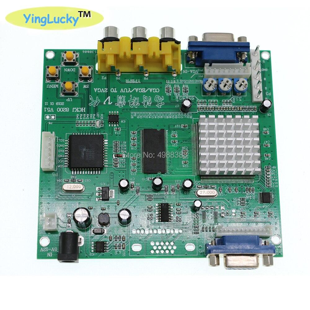 Livraison gratuite 2 pièces jeu d'arcade RGB vers VGA convertisseur PCB hd Arcade CGA vers VGA convertisseur une sortie VGA pour machine de moniteur LCD