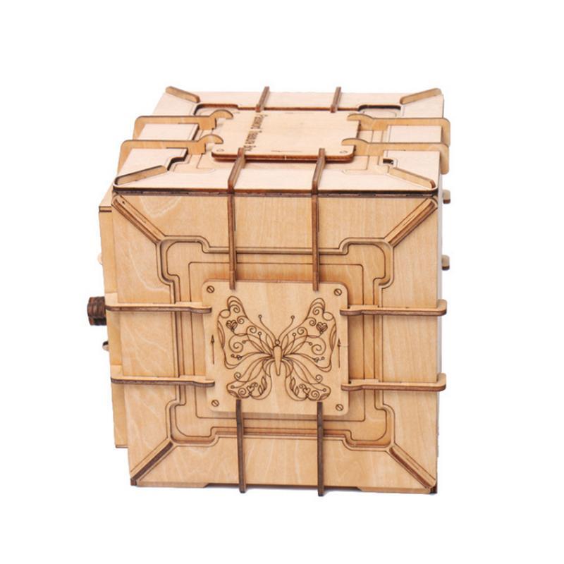 Creative Pandora boîte bloc de construction coffre au trésor en bois boîte de rangement cosmétique artisanat bijoux organisateur maison bureau décoration - 4