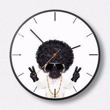 New 3D Wall Clock 30cm/35cm Professional Dog Modern Design Fashion Silent Movement Round Large Size Home