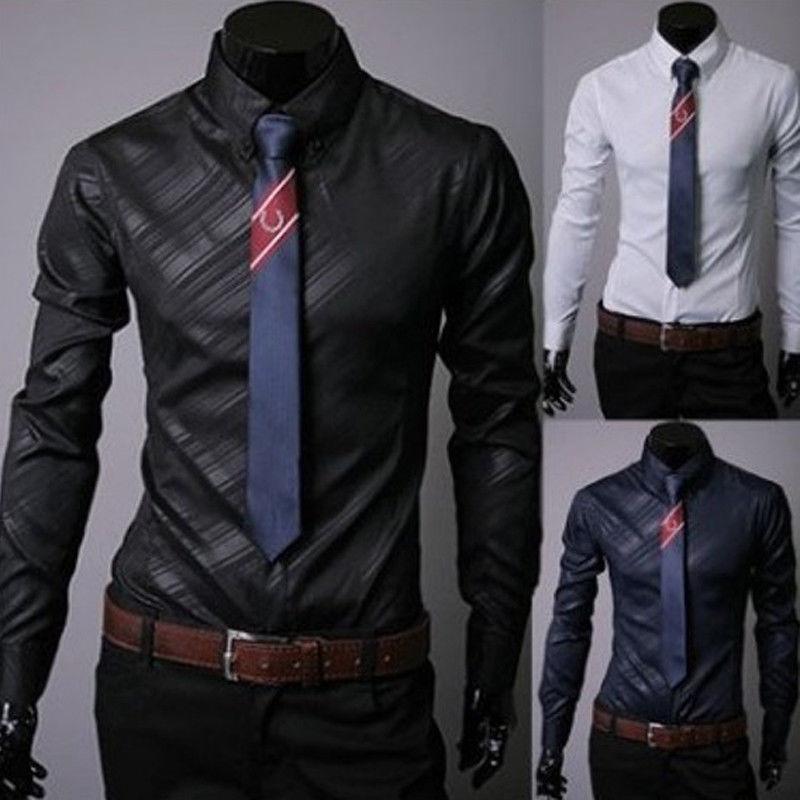 100% Wahr 2019 Neue Stil Hot Fashion Männer Luxus Stilvolle Beiläufige Solide Shirts Langarm Taste Slim Fit Baumwolle