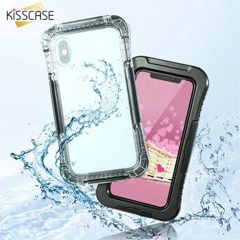 f3fa711e8a4 KISSCASE funda de teléfono impermeable para iPhone X XS MAX XR 7 8 funda de  fotografía subacuática para iPhone 6 6 s 7 8 Plus funda bolsa