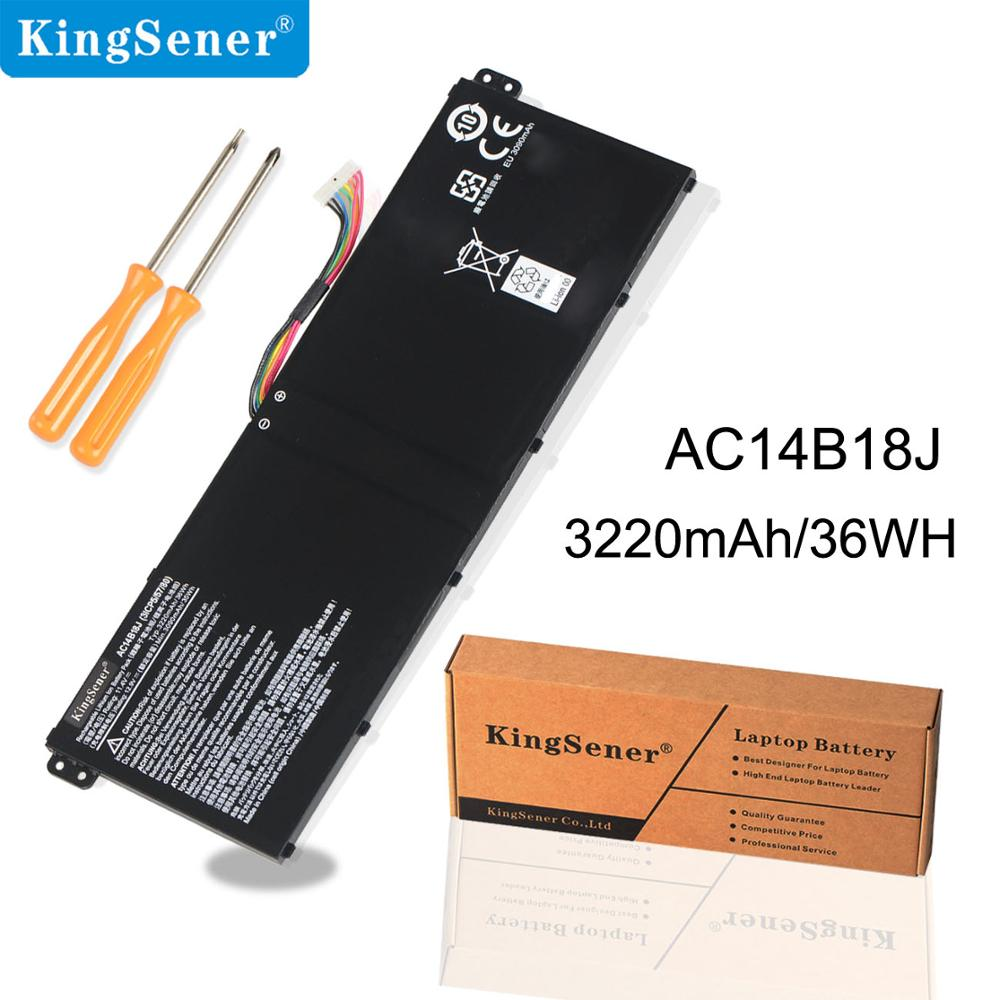 KingSener AC14B8K AC14B18J AC14B13J סוללה למחשב נייד - אביזרים למחשב נייד