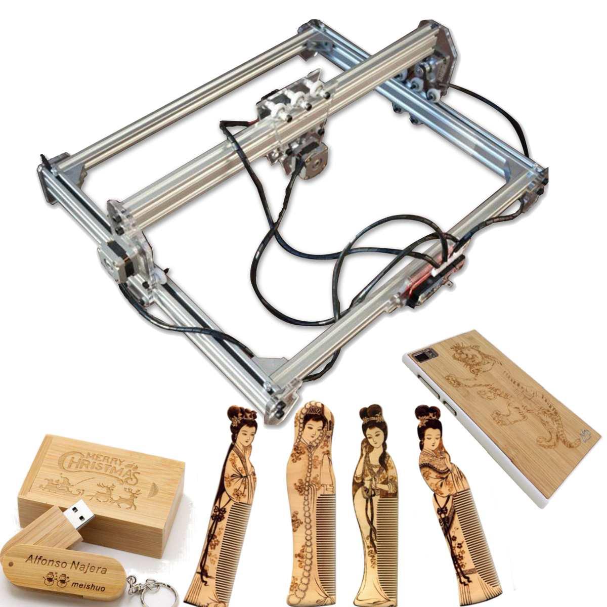Machine de découpe laser TTL PMW contrôle 400 MM x 300 MM 500 mw bricolage machine de gravure laser, laser sculpture machine CNC routeur