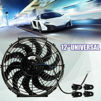 12'' 80W Universal Car Electric Radiator Fan 12V Push Pull Intercooler Cooling
