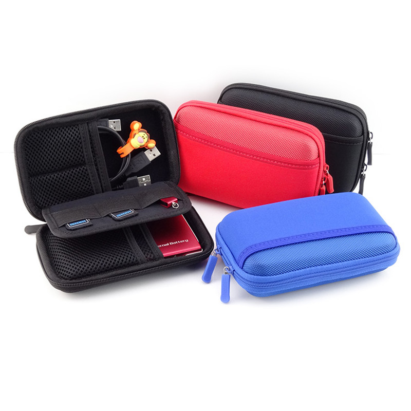 Phone Case Accessory Storage Bag Portable Shockproof Power Bank Pouch Bags Charger Adapter Cable Earphone Organization Cover