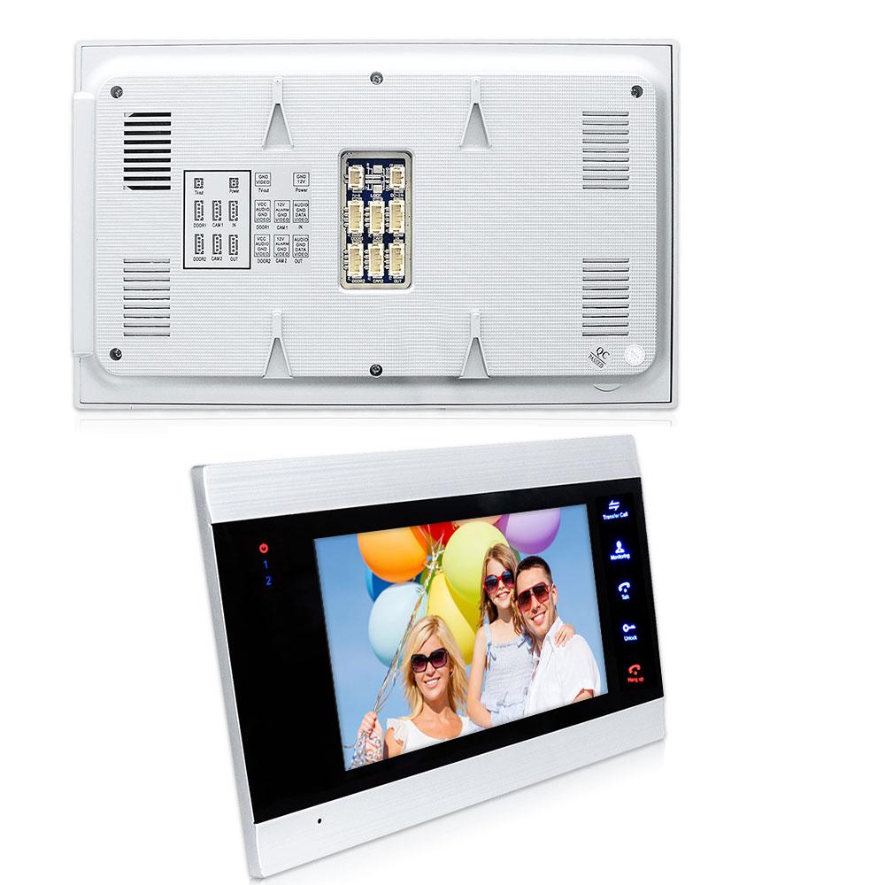 7 Wireless WiFi LCD Video Doorphone HD 720P 1200TVL IR IP65 Outdoor Metal Camera APP Video Record Doorbell Intercom System - 3
