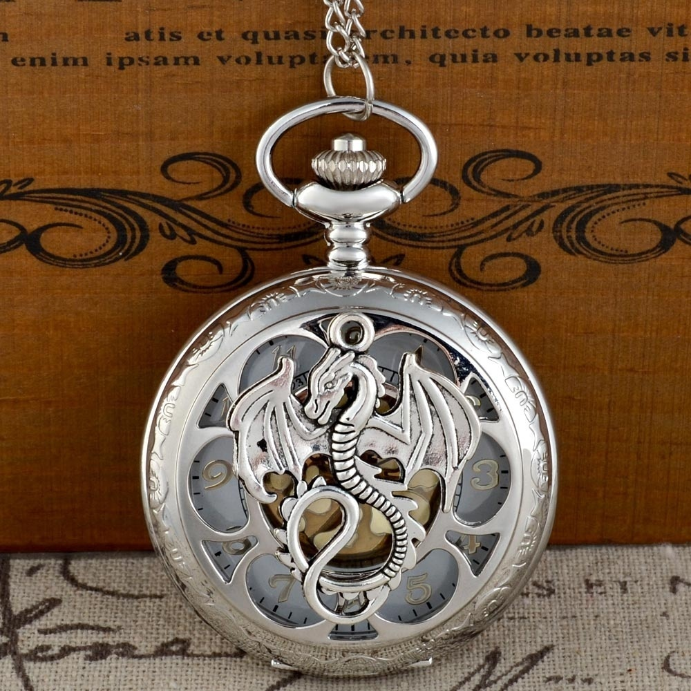 Steam Punk Theme DIY Full Hunter Quartz Engraved Fob Retro Pendant Pocket Watch Chain Gift